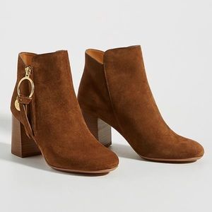 SEE BY CHLOÉ Louise Bootie Suede Stacked Heel 6